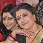 Ma and me at the music launch of Goynar Baksho! http://t.co/WWBW2ElkeP