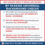 RT if you agree: Universal background checks will save lives—and it's time for Congress to act. #VoteGunSense,