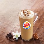 .@BurgerKing launches lattes & hey made 1 with a big ole pic of my face on it. Don't I look handsome in cinnamon?