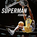 Congratulations to @SHAQ on having his Laker jersey retired. #superman #legend #SHAQ34