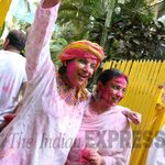 Super fun holi with my very favorite @AzmiShabana