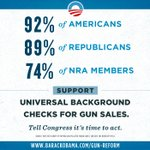 FACT: 92% of Americans—including 74% of NRA members—support universal background checks. #DemandAction,