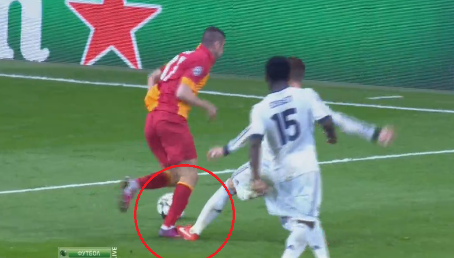 Galatasarays triple whammy after the ref wrongly believed Burak Yilmaz dived in the Real box