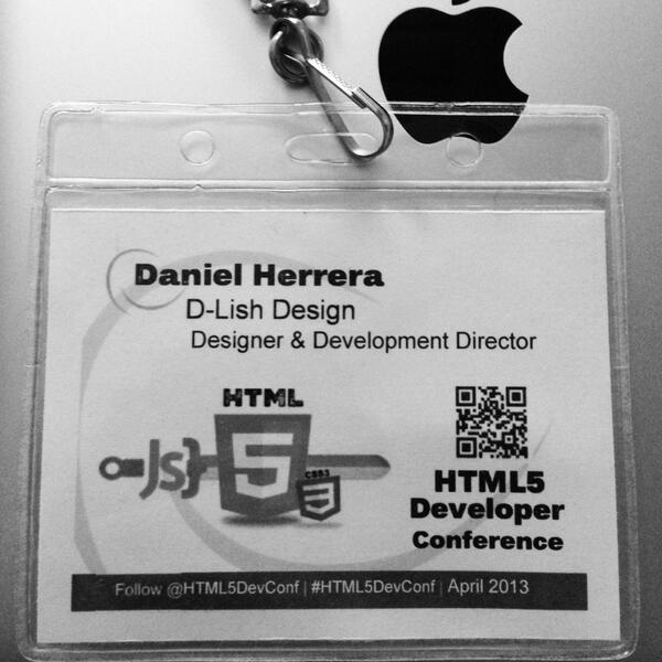 Love this photo from HTML5DevConf Spring 2013 #html5devconf @html5devconf [pic] --