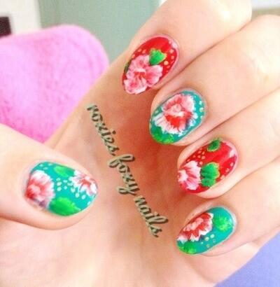 flowerss #dutchnailart http://t.co/J9gLkSjUYb