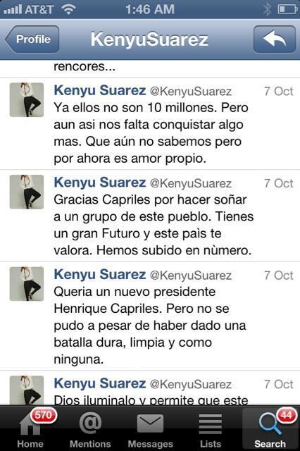 Aqui les dejo unos mensajes de la esposa de Roque Valero, fiel seguidora de HCR.@botellazo @tururunes @anamariaoxford http://t.co/4hTx9RlUnd