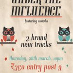Under The Influence live at Blue Frog on Thursday 28th March. Don't miss it! @influenceduo @theblueFROG http://t.co/bZ5zydRu0e