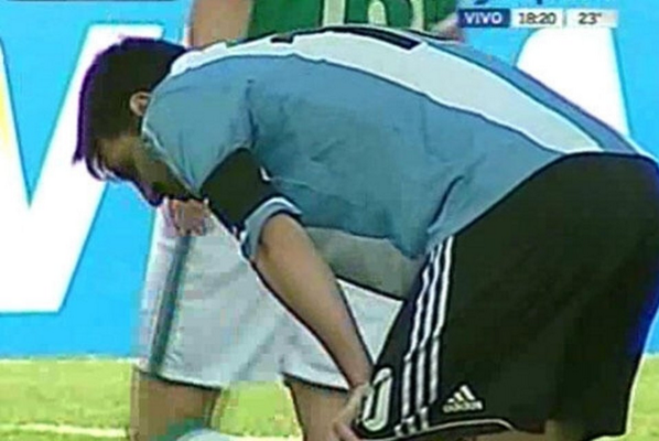 BGUNl44CYAADxnq Crazy pictures: How the high altitude in Bolivia affected Lionel Messi and Angel Di Maria