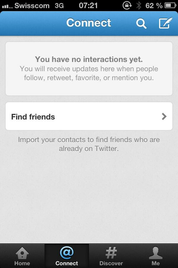 """""""You have no interactions yet."""" I rather think that you have a big bug there, dear @Twitter. http://t.co/fOpS75TSHt"""