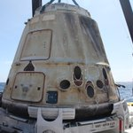 RT @SpaceX: Last night, #Dragon made its way into the Port of LA on the recovery boat. Mission accomplished!