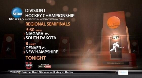 NCAA: Quelle Surprise! ESPN's Latest Hockey Gaffe - Dakota Dyslexia