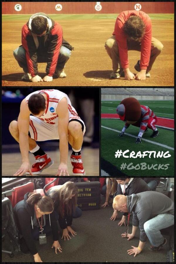 Move over #Kaepernicking and #Tebowing, here comes #Crafting!  @Buckeye_Nation #GoBucks http://t.co/FtemuOLcIP