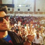PIC- At Madanpalle Theatre with Housefull Crowds for #SwamyRaRa :-)