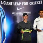 Ashwin & Ricky at the Nike shoe launch in Bangalore. One for the batsman, one for the bowlers.
