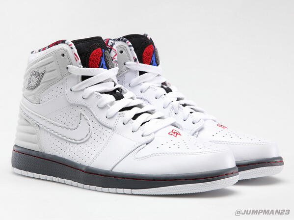 Taking cues from the original AJ VIII, our Air Jordan 1 Retro '93 hops on the scene this Saturday. http://t.co/ngZGD3qVXa
