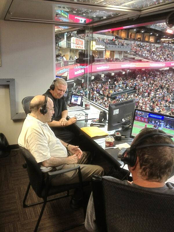 Joe Garagiola, Sr. joins Greg Schulte and Tom Candiotti in the @AZSports620 radio booth. #ThankYouJoeG http://t.co/Z8pCWq1Ssg