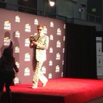 Will Ferrell looking snazzy as he accepts his award in the press room. #willferrell #mtvmov... http://t.co/VVbdAYQB4Q http://t.co/LsNKMzf7nm