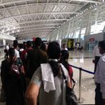 Here in Chennai's new domestic terminal |