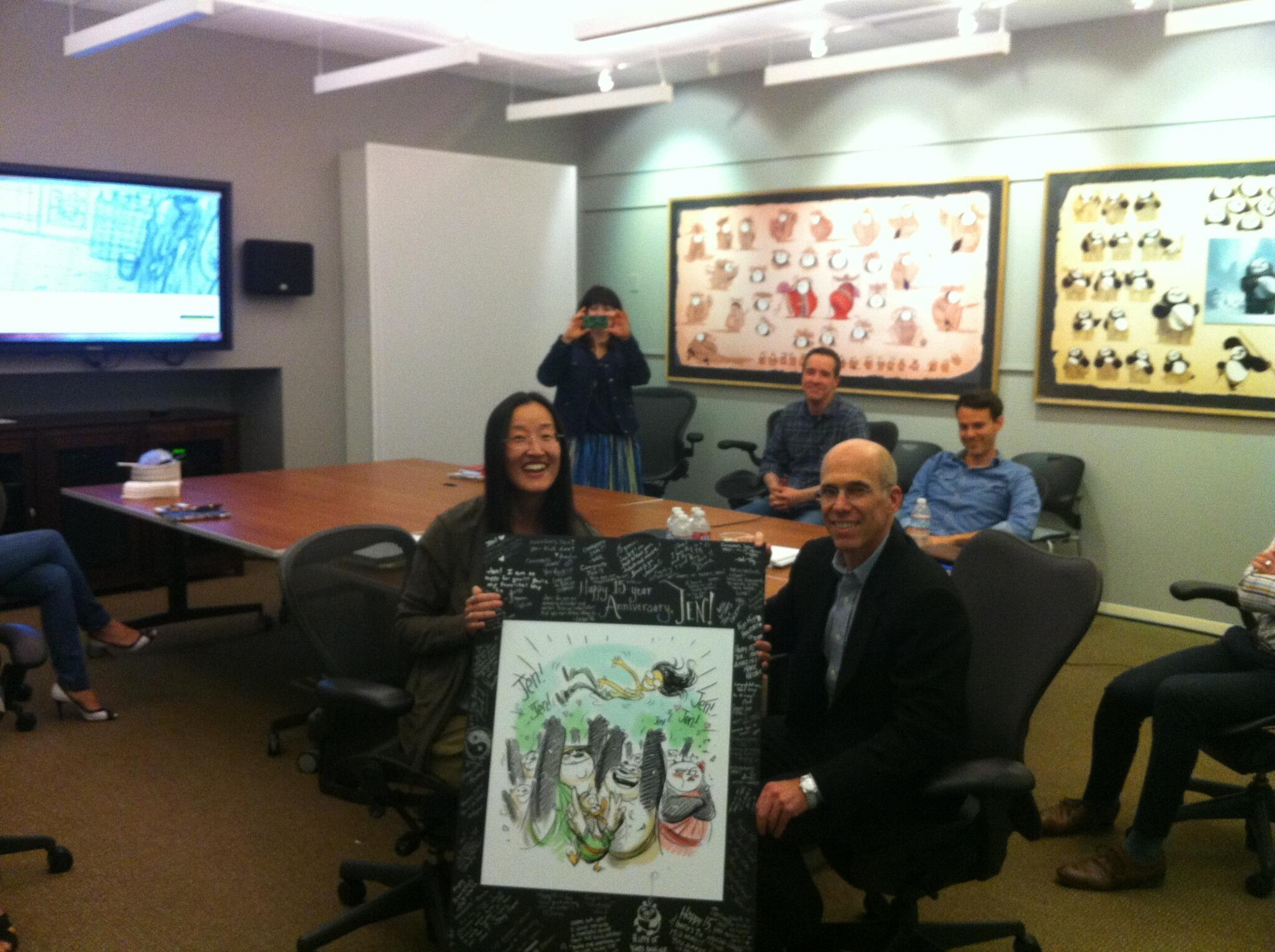 Congrats to #KungFuPanda 2 & 3 director Jennifer Yuh Nelson on 15 AWESOME years here at @DWAnimation! http://t.co/TyGVOQnASv