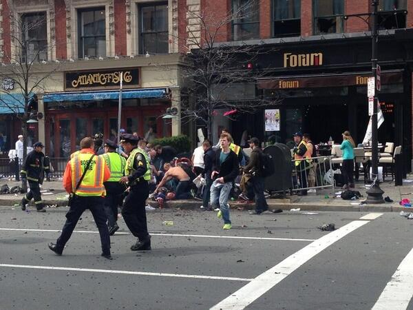 RT @Johrne: @barrybateman Here is a photo of impact of blast. #BostonMarathon http://t.co/9OkUlmtqmE