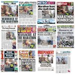 #Boston #Marathon dominates Tuesday's UK front pages