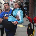 Former Patriots/Browns G Joe Andruzzi carries woman to safety during Monday's explosions (via http://t.co/vN6llYRbmt)