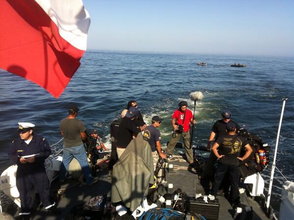Primer buceo de la mañana a La Esmeralda en 2do Dia de Expedición. http://t.co/w8SY2pZSjs
