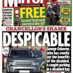 George Osborne update: Photo of vehicle which parked in disabled bay appears in @DailyMirror