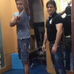 With my physio Aijaz in the morning...feels nice to be back on my feet.