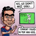 Cartoon: Sehwag wasn't missed.