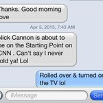 RT @complexmelody19: My friends know me well. What woke me up lol @NickCannon @cnnbrk #startingpoint.