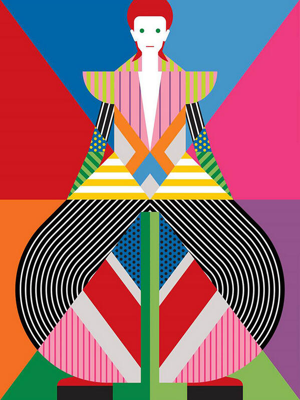 An illustration by Craig & Karl for the 'David Bowie Is' exhibition at the Victoria & Albert Museum in London. http://t.co/g8UJfC5nQi