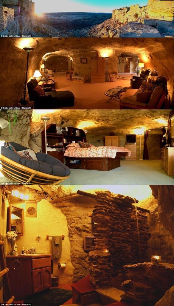 فندق رائع داخل كهف بأحد الجبال في مدينة فارمنغتون بولاية نيو مكسيكو غرب أمريكا !   http://t.co/RjnOcHEF6c #أقوى_ريتويت #ملك_الصور_منوعات