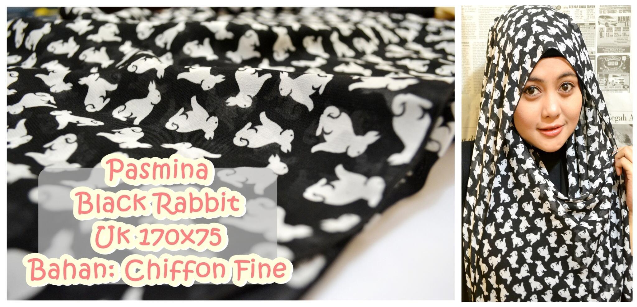 Pasmina Chiffon Motif Black Rabbit | Uk. 175x75cm | Rp.38rb | WA/sms 081230893719 #ShafaApril #hijab #hijabers http://t.co/FwzZWmYEKE