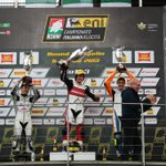 #MahindraRacing rider Locatelli with winners cup for his win in the 1st Italian Chmp race today!