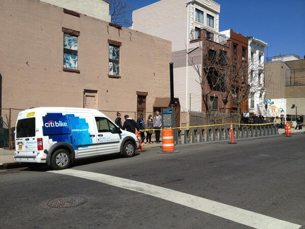 Installing the @CitibikeNYC bikeshare in Brooklyn! http://t.co/weCvNe5oDW