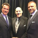 "Great shot. Thank you for having me. ""@TripleH: @SammartinoBruno @Schwarzenegger  #WWEHallOfFame #livinglegends"
