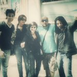 The #IndianIdolJunior team home after Chandigarh Auditions @V1SH4L @5hekhar @shreyaghoshal @karan009wahi http://t.co/86O8YhcQbp