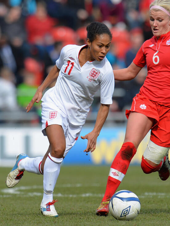 Lunchtime teaser A: It's Rachel Yankey, @jonrest was correct first. Congrats to the 400 of you that said Ronaldinho! http://t.co/2w0PdvbJsW