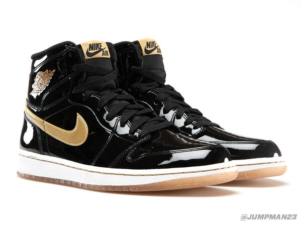 Black patent leather & metallic gold hit our AJ 1 Retro High OG this Saturday, just in time for the @JordanClassic: http://t.co/W5nRiNZbRn