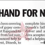 RT @OnlyKollywood: Jiiva's helping hand for needy : Credits - TNIE | @Actorjiiva @JiivaCapital @RinkuGupta2012