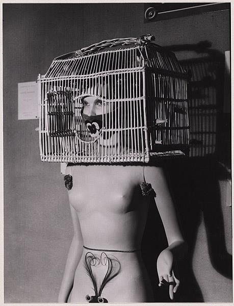 Man Ray Mannequin with a bird cage over her head, 1938 http://t.co/AEe7m3UBEa