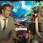 I spoke w/ Emma Stone & Ryan Reynolds who play prehistoric cave-dwellers in The Croods. Tonight, 11.30pm, CNN- IBN.