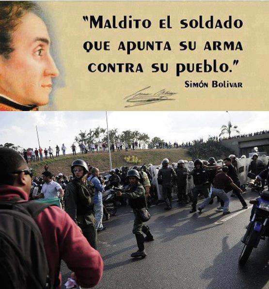 ' Maldito el soldado que apunta su arma contra el pueblo ' http://t.co/b6FmkE37UR