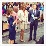 RT @sarahaines @NMoralesNBC @alroker @hodakotb @MLauer on the plaza...& weather is  perfect! #todayshow #plazaparty