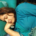 Sleeping beauty @anewradha on @ashesinwind69 birthday!!! Happy Birthday Niranjan!!!