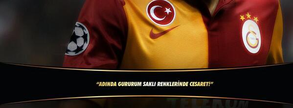 Galatasaray SK (@GalatasaraySK): ADINDA GURURUM SAKLI RENKLERİNDE CESARET! TEŞEKKÜRLER GALATASARAY! http://t.co/R8EL6iCihG