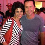 Me and Ricky Ponting .. The captain of the winning team tonite!! Woohoo! #signatureafterparty http://t.co/6aL2QvaQTg