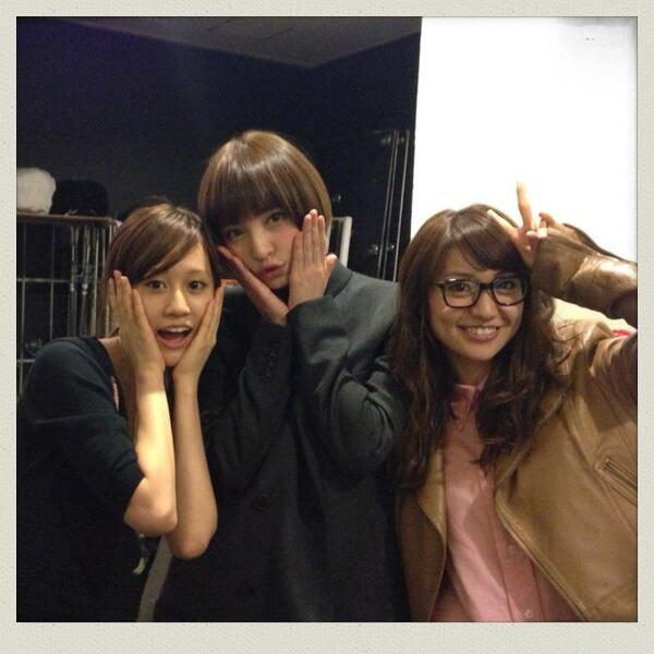 RT @mariko_dayo: 広告撮影してたら同じスタジオに敦子が別の広告撮影してて、別の階に優子も!!!こんな偶然ってあるのか(((o(*゚▽゚*)o))) 久々のスリーショット♪ 昔の選挙1.2.3って感じ?(笑)むふふ http://t.co/5sYc35NMOC