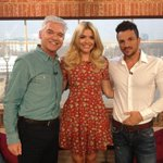Me with @Schofe and @hollywills after announcing The Peter Andre Foundation on This Morning : ))